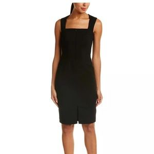 Bailey 44 Black Front Zip Sheath Sleeveless Dress